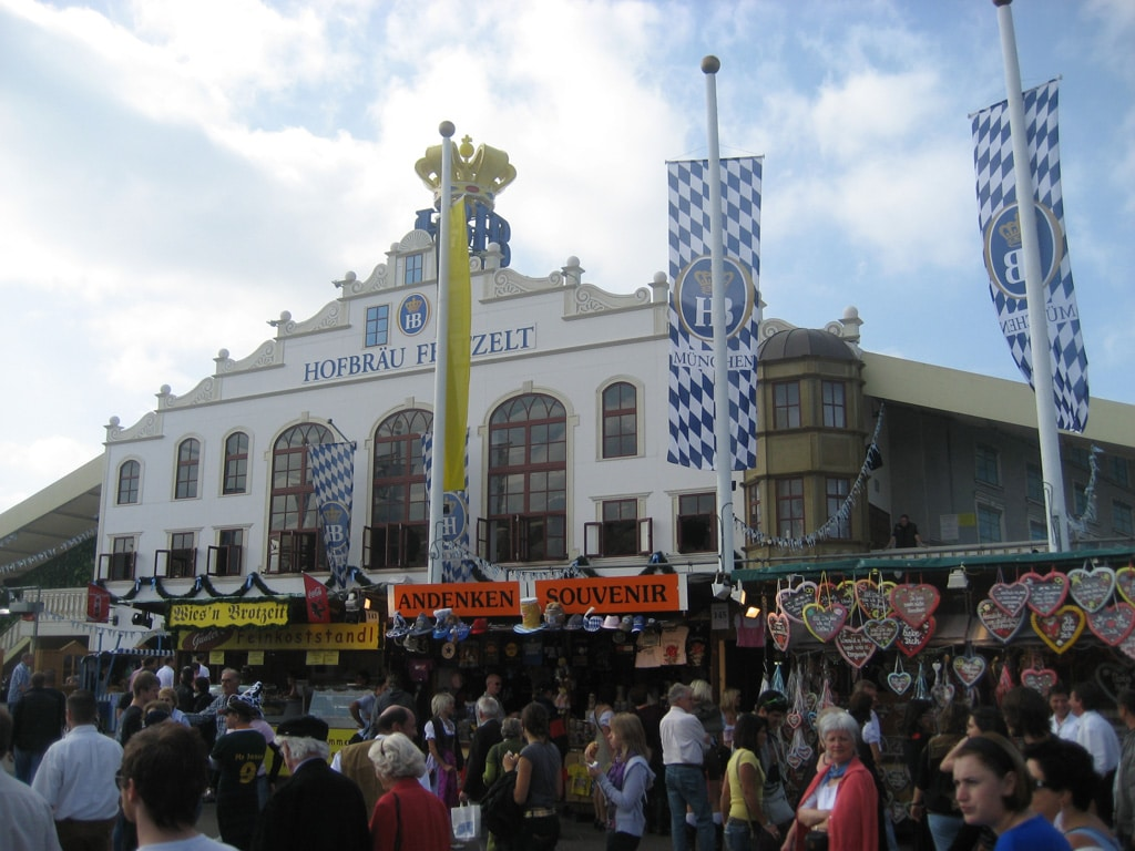 The Hofbräu Festhalle is the most popular tent with foreigners