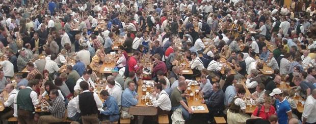 full beer tent