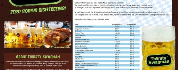 Oktoberfest 2014 Beer Prices