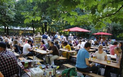 Munich Beer Garden (Henning Schlottmann / Wikimedia Commons / Public Domain)