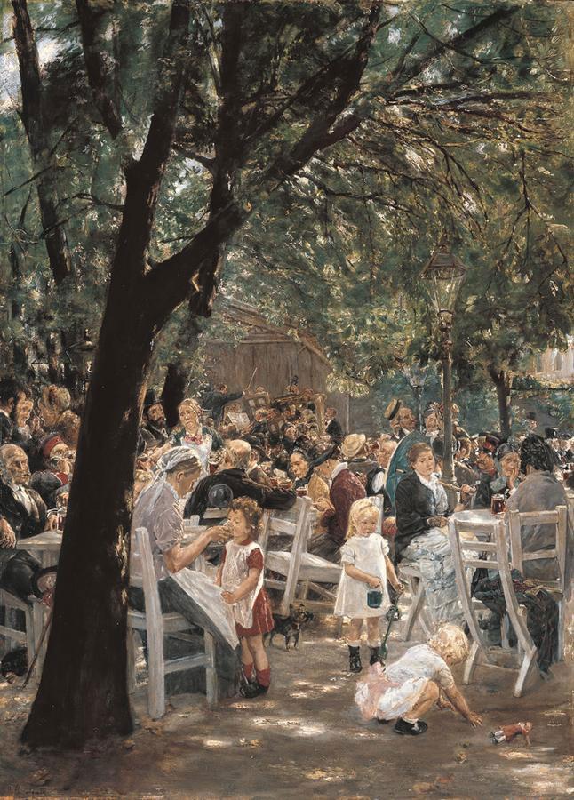 Munich Biergarten 1884