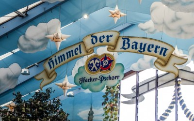 Hacker-Pschorr is Bavarian Heaven at Oktoberfest in Munich, Germany