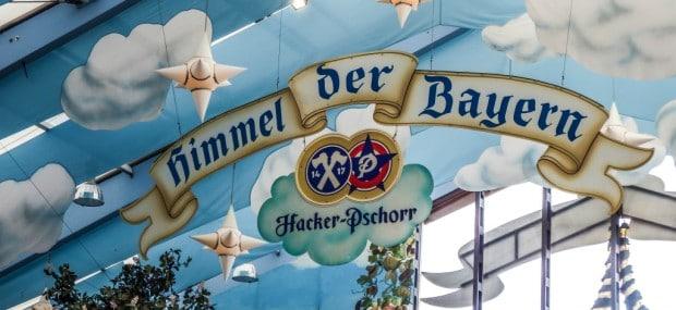 Hacker-Pschorr is Bavarian Heaven at Oktoberfest in Munich, Germany