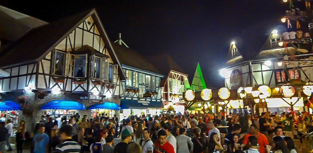 German-inspired buildings at Oktoberfest Blumenau in Brazil