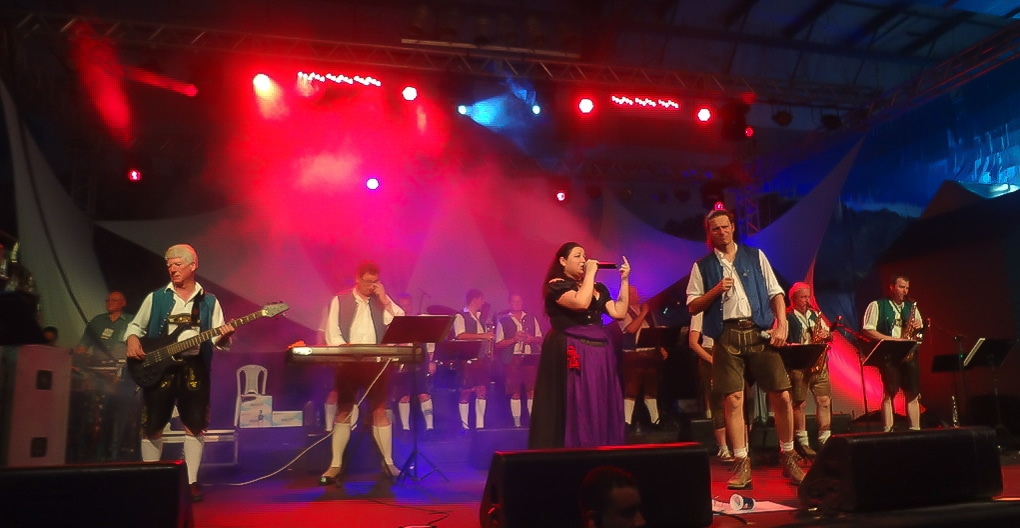 Musical entertainment at Oktoberfest Blumenau in Brazil