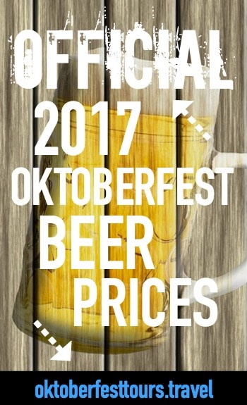 Official 2017 Oktoberfest beer prices | Oktoberfest beer tents | How much for a liter of beer at Oktoberfest?