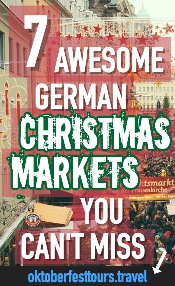 7 Awesome German Christmas Markets | Gendarmenmarkt Berlin | Ravenna Gorge, Black Forest | Striezelmarkt, Dresden | Old Palace, Stuttgart, Germany | Christkindlesmarkt, Nuremberg