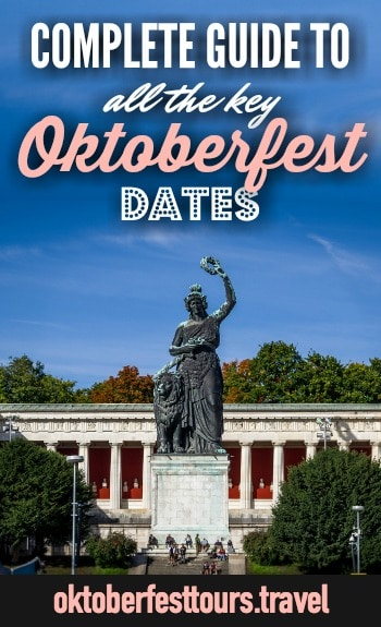 Oktoberfest dates and schedule of events | Munich, Germany | Oktoberfest things to do | What to do at Oktoberfest | Oktoberfest beer tents | Oktoberfest hours and dates | Gay Sunday | Parades and concerts | #oktoberfest #munich #beer #beerfestival #germany
