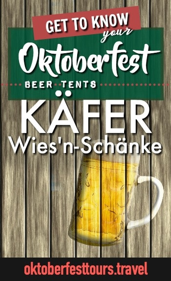 Get to know your Oktoberfest beer tents: Kafer Wies'n-Schanke #oktoberfest #beer #festival #paulaner #munich #germany