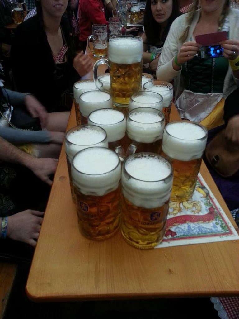 How much does beer cost at Oktoberfest