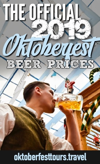 The official Oktoberfest 2019 beer prices #oktoberfest #beer #festival