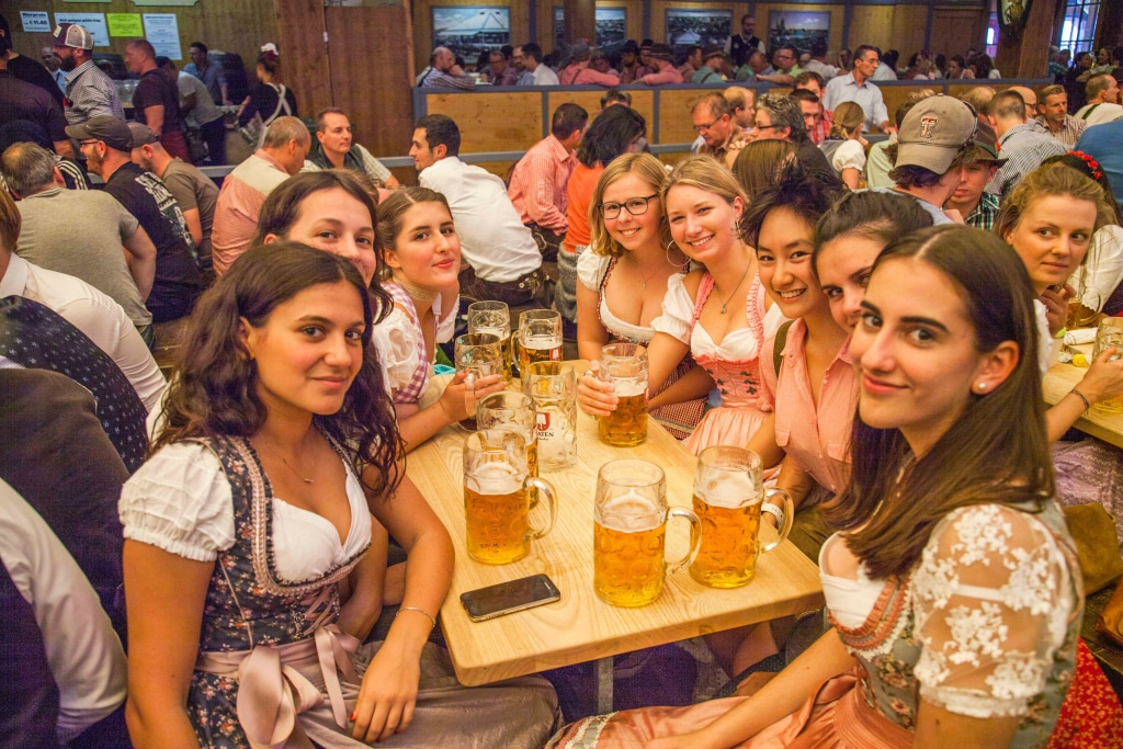 Oktoberfest 2021 schedule of events - inside the beer tents
